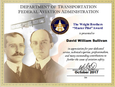 Image result for what does the FAA master pilots award look like